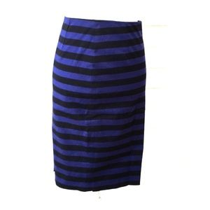 Prada cotton blue/black striped pencil skirt